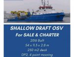 FOR SALE AND CHARTER Shallow Draft