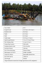 This 20/18 inch Cutter section dredger is readily available on rental basis in India and Bangladesh .